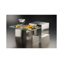 American Metalcraft - RSS3 - Satin Stainless Steel Riser Set image