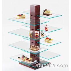 Cal-Mil - 831-SQ - 19 3/4 in x 10 in Glass Pillar Shelf image