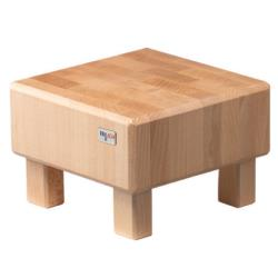 GET Enterprises - 3ST083 - 8 7/10 in FRILICH Pure Natural™ Square Butcher Block Display Riser image