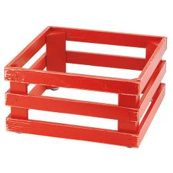 GET Enterprises - 5ST069 - 13 in x 13 in FRILICH Riser™ Vintage Red Wooden Base image