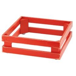 GET Enterprises - 5ST071 - 13 in x 13 in FRILICH Riser™ Vintage Red Wooden Base image