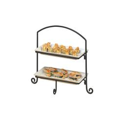 American Metalcraft - IS11 - 18 3/8 in Ironworks™ 2-Tier Stand image