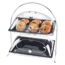 Cal-Mil - 1001 - 2-Tier Chrome Tray Stand image