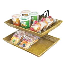 Cal-Mil - 1290-2 - 2-Tier Bamboo Tray Merchandiser image