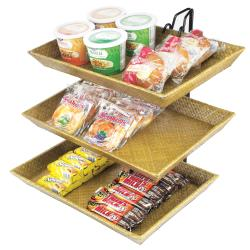 Cal-Mil - 1290-3 - 3-Tier Bamboo Tray Merchandiser image
