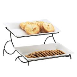 Cal-Mil - 1405-15 - 2-Tier White Tray Stand image