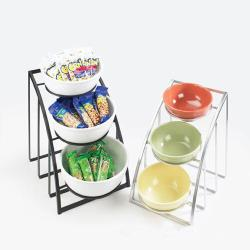 Cal-Mil - 1712-8-13 - 3-Tier Black 8 in Bowl Display image