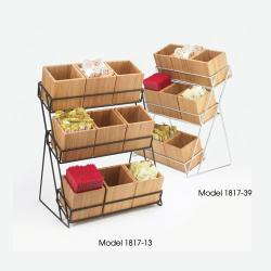 Cal-Mil - 1817-13 - 3-Tier Black 4 in Jar Display image