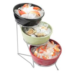 Cal-Mil - C1223-10 - 3-Tier Chrome 10 in Bowl Display image