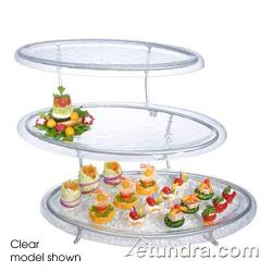 Cal-Mil - GL2430-G - 3-Tier Stand w/Oval Green Tint Acrylic Trays image