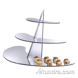 Cal-Mil - MT100 - Astro Triple Tier Display w/Reversible Winged Acrylic Mirror Trays image