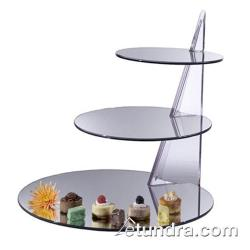 Cal-Mil - MT220 - Astro Triple Tier Display w/Reversible Round Acrylic Mirror Trays image