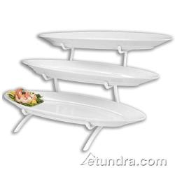Cal-Mil - PP2200 - 3-Tier Stand w/Oval Porcelain Fish Platters image