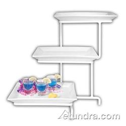 Cal-Mil - PP2301 - 3-Tier Strata Incline Stand w/ Diamond Porcelain Platters image