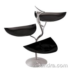 World Cuisine - 41868K05 - 3-Tier Display Stand w/Black Scoop Dishes image