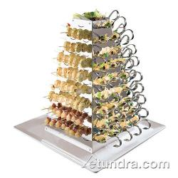 "World Cuisine - 42988-03 - 20 7/8"" Stainless Swiveling Pyramid Server image"