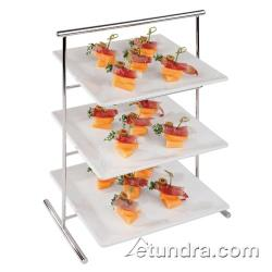 "World Cuisine - 44840-02 - 8 1/4"" x 13"" 3-Tier Chromed Steel Stand image"