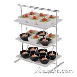 "World Cuisine - 44840-03 - 8 1/4"" x 14 1/2"" 3-Tier Chromed Steel Stand image"
