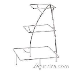 "World Cuisine - 44840-05 - 14 7/8"" x 14 7/8"" 3-Tier Chromed Steel Stand image"