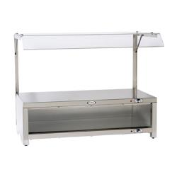 Cadco - CMLW-CSG - Warming Cabinet With Sneeze Guard And Warming Shelf Top image