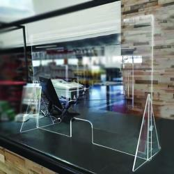 Nemco - 69792-36 - 36 in x 42 in Countertop Easy Shield™ Polycarbonate Cashier Barrier image