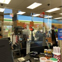 Nemco - 69798 - 36 in x 24 in Hanging Easy Shield™ Polycarbonate Cashier Barrier image