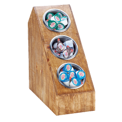 Cal-Mil - 3423-3-99 - 3-Tier Reclaimed Wood Countertop Organizer image