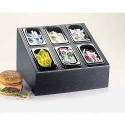 Cal-Mil - 469 - Sixth Size 4 in Deep Food Pan Organizer image