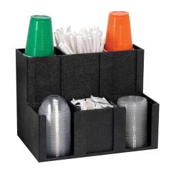 Dispense-Rite - MCD-6BT - Six Section Cup, Lid, Condiment And Straw Organizer image
