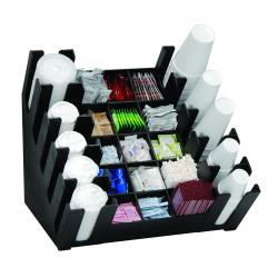 Dispense-Rite - MLCCO-5BT - 25 Section High Volume Cup, Lid, Condiment And Straw Organizer image