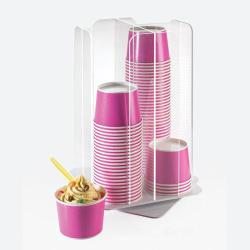 Cal-Mil - 1539-12 - 4 Section Revolving Cup Dispenser image
