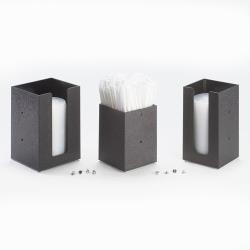 Cal-Mil - 298-13 - 4 in x 4 in Black Lid Dispenser image