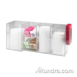 Cal-Mil - 387-12 - 6 Section Condiment/Lid/Napkin Dispenser image