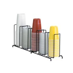 Dispense-Rite - WR-5 - 5-Section Wire Cup/Lid Dispenser Black image