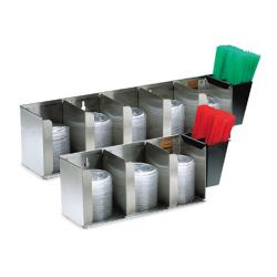 San Jamar - L1022 - 5-Section Lid Dispenser image