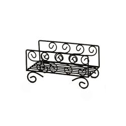 American Metalcraft - NDSS95 - Ironworks™ Scroll Wrought Iron Napkin Basket image