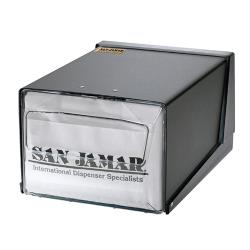 San Jamar - H3001BKC - Countertop Fullfold Black/Chrome Napkin Dispenser image