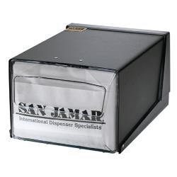 San Jamar - H3001CLBK - 7 1/2 in x 11 in Black Napkin Dispenser image