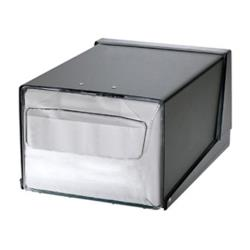 San Jamar - H3001CLXC - Countertop Fullfold Chrome/Clear Napkin Dispenser image