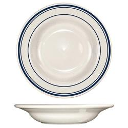 ITI - CT-3 - 12 Oz Catania™ Deep Rim Soup Bowl With Blue Band image