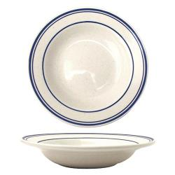 ITI - DA-3 - 12 Oz Danube™ Blue Speckled Deep Rim Soup Bowl image