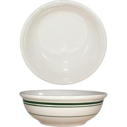 ITI - VE-24 - 10 Oz Verona™ Nappie Bowl With Green Band image
