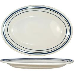 ITI - CT-19 - 15 1/2 in x 10 1/2 in Catania™ Platter With Blue Band image