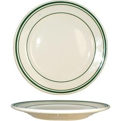 ITI - VE-16 - 10 1/4 in Verona™ Plate With Green Band image