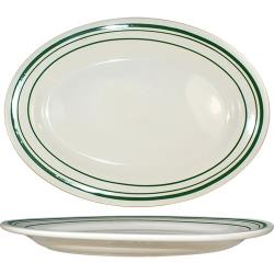 ITI - VE-34 - 9 3/8 in x 6 5/16 Platter With Green Band image