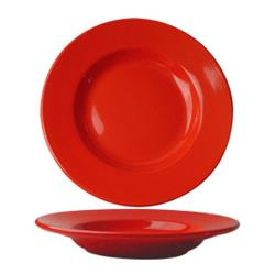 ITI - CA-120-CR - 20 Oz Cancun™ Crimson Red Pasta Bowl With Rolled Edge image