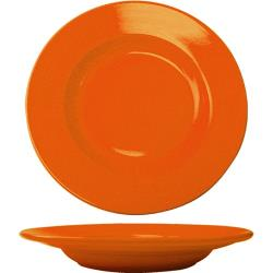 ITI - CA-120-O - 20 Oz Cancun™ Orange Pasta Bowl With Rolled Edge image