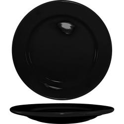 ITI - CA-16-B - 10 1/4 in Cancun™ Black Rolled Edge Plate image