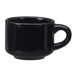 ITI - CA-23-B - 7 1/2 Oz Cancun™ Black Stack-able Teacup image