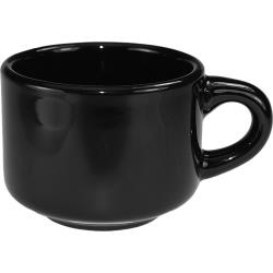 ITI - CA-23-B - 7 1/2 oz Cancun™ Black Stackable Teacup image